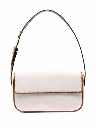 STAUD Tommy leather-trim Shoulder Bag - Farfetch