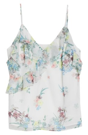 Ted Baker London Meeyah Pergola Floral Cold Shoulder Camisole | Nordstrom
