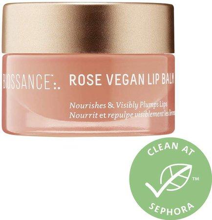 Biossance - Squalane+ Rose Vegan Lip Balm