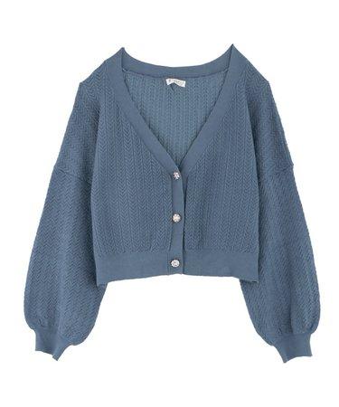 axes femme online shop|Knit cardigan_FN161X10