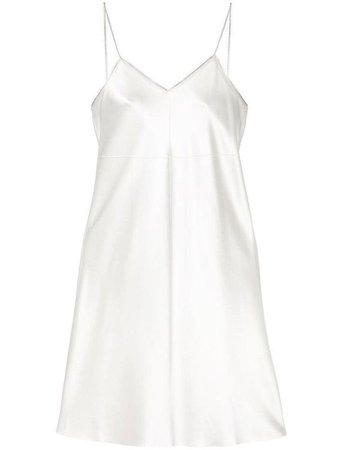 White Satin Party Dress