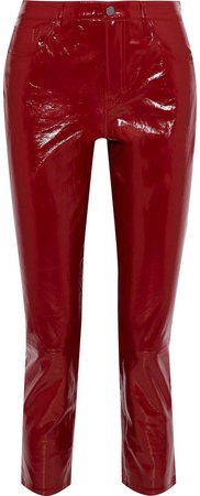 Ruby Cropped Patent-leather Slim-leg Pants