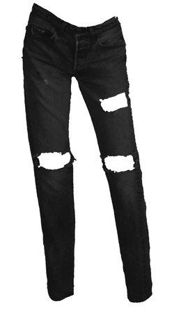tall black boyfriend jeans