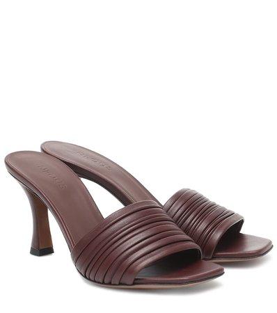 Neous - Sham leather sandals | Mytheresa