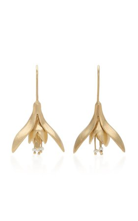 14k Gold And Pearl Earrings By Annette Ferdinandsen | Moda Operandi