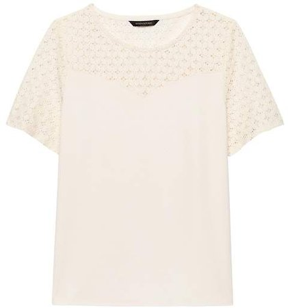 Lace Sweetheart Ponte Top