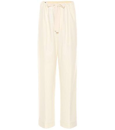 Jil Sander - Twill wool-blend wide-leg pants | Mytheresa