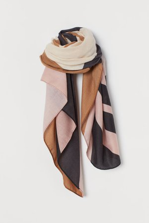 Patterned Scarf - Pink