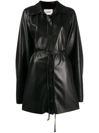 Nanushka Joy Faux Leather Shirt Dress - Farfetch