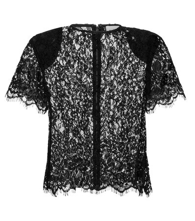 Self-Portrait - Lace top | Mytheresa