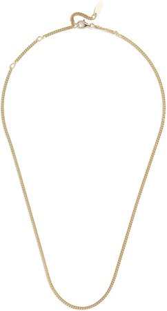Mini Michel Sterling Silver Curb Chain Necklace