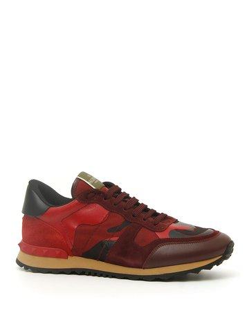 Valentino Garavani Rock Runner Camo Trainer Sneakers