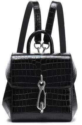Hook Croc-effect Leather Backpack