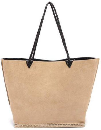 Espadrille Large Suede Tote Bag - Womens - Beige Multi