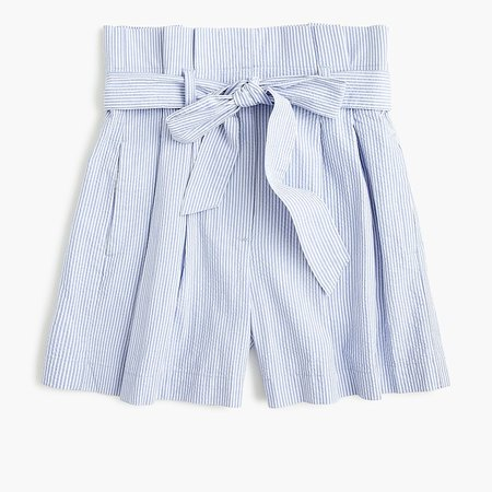 J.Crew: Paper-bag Short In Seersucker blue