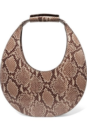 STAUD | Moon snake-effect leather tote | NET-A-PORTER.COM