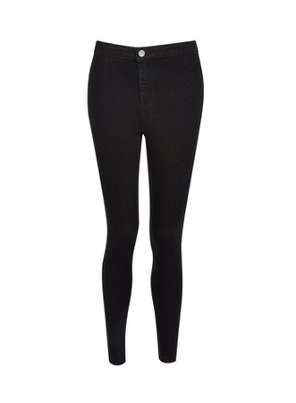 Petite Black Lyla High Waisted Skinny Jeans | Dorothy Perkins
