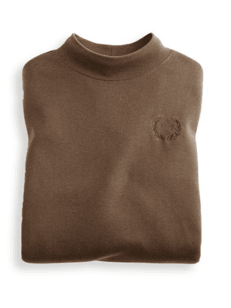 Embroidered Crest Mock Turtleneck | Blair