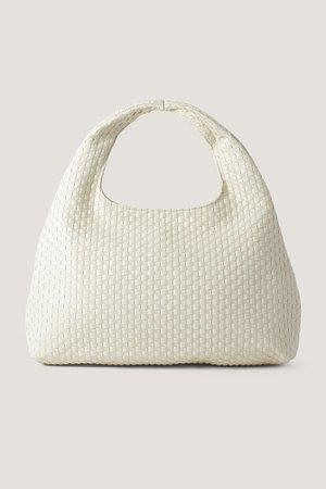 Small Braided Shoulder Bag Offwhite | na-kd.com