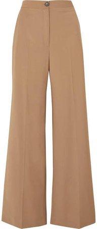 Ludlow Wool-blend Wide-leg Pants - Camel