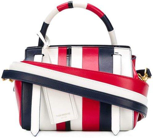 3-Strap Patchwork Shoulder Bag