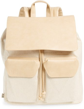 Faux Leather Rucksack Backpack