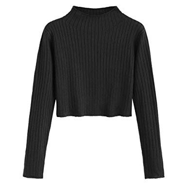 black crop sweater knit - Google Search