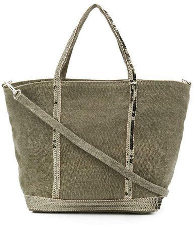 sequined detail tote bag