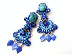 statement earrings wedding turquoise clip on | Beads Of Aquarius