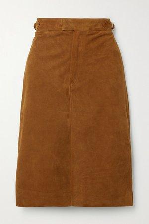 Flora Suede Skirt - Tan