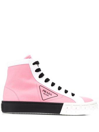 Prada high-top Gabardine Sneakers - Farfetch