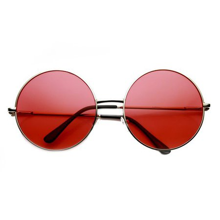 *clipped by @luci-her* Indie Festival Hippie Oversize Round Colorful Lens Sunglasses 9580
