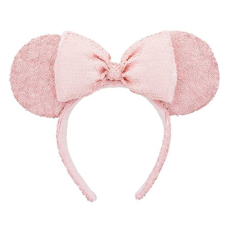 Minnie Mouse Sequined Ear Headband - Pink | shopDisney