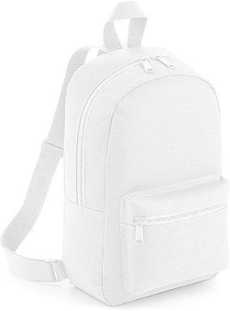 Amazon.com: Bagbase Mini Essential Backpack/Rucksack Bag (One Size) (White): Clothing