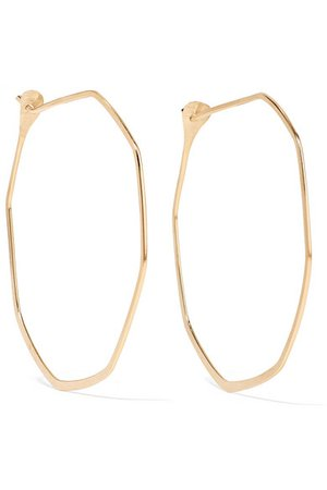 Melissa Joy Manning | 14-karat gold hoop earrings | NET-A-PORTER.COM
