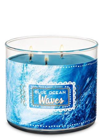 Blue Ocean Waves 3-Wick Candle | Bath & Body Works