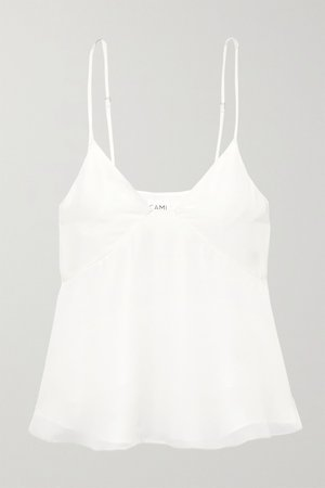 White The Kaia silk-georgette camisole | Cami NYC | NET-A-PORTER