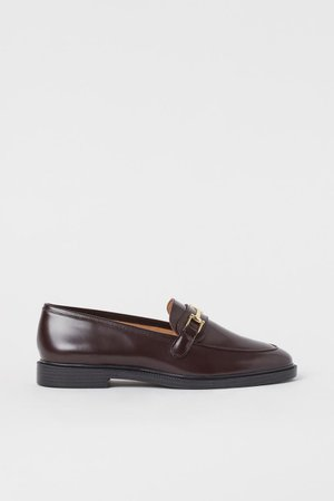 Leather loafers - Burgundy - Ladies | H&M