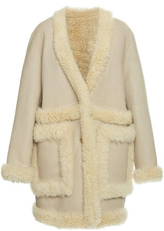 Joseph Coba Oversized Shearling Coat