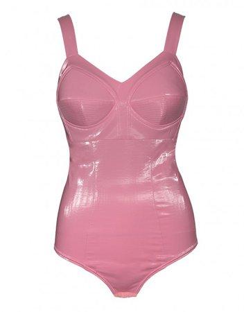 Gloss Bodysuit Pink | MURMUR