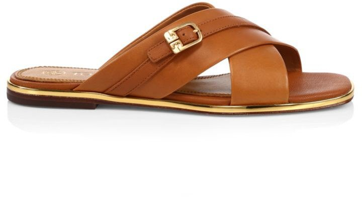 Delaney Leather Slide Sandals