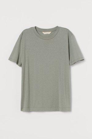 Silk-blend T-shirt - Green