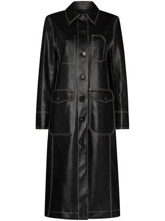 LVIR contrast-stitch Buttoned Coat - Farfetch