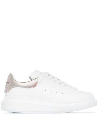 Alexander Mcqueen Metallic Oversized Leather Sneakers Ss20 | Farfetch.com