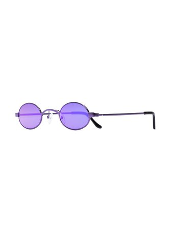 Roberi & Fraud Purple Doris Oval Sunglasses DORISPURPLE | Farfetch