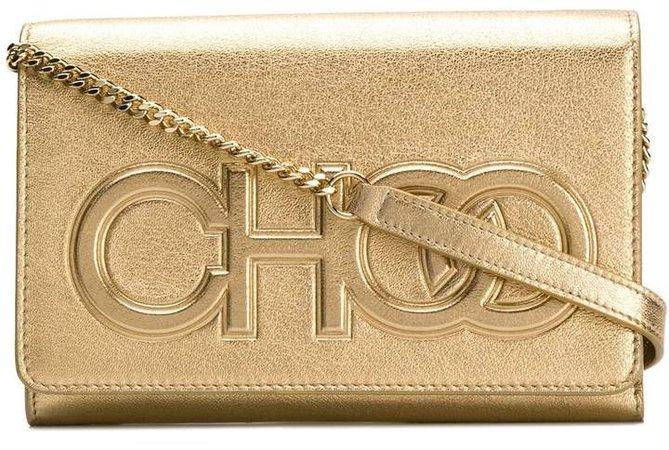 gold metallic Sonia crossbody bag