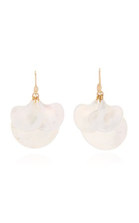 Annette Ferdinandsen Mother of Pearl Ginkgo Cluster earring