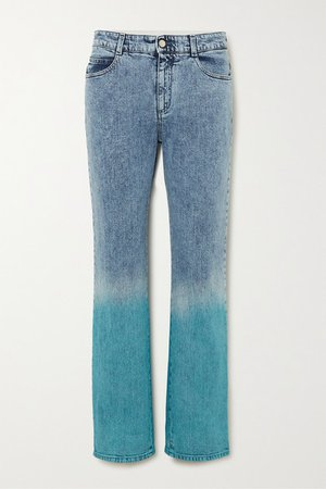 Degrade Mid-rise Straight-leg Jeans - Blue