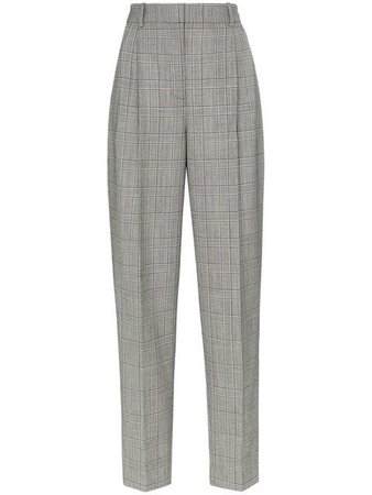 Givenchy check print high-waisted tailored trousers $1,091 - Shop SS19 Online - Fast Delivery, Price