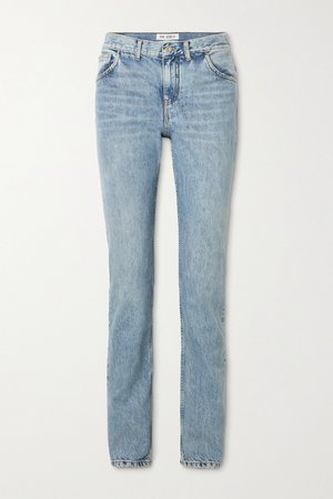 Light blue High-rise straight-leg jeans | The Attico | NET-A-PORTER